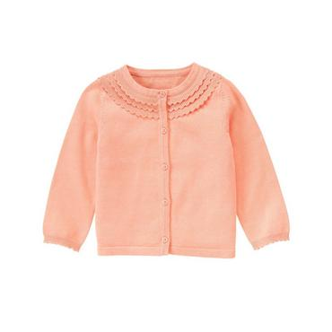 Coral Scalloped Cardigan at JanieandJack