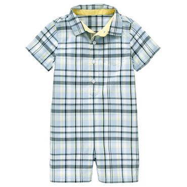 Spring Blue Plaid Plaid One-Piece at JanieandJack
