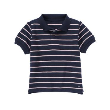 Classic Navy Stripe Stripe Polo Shirt at JanieandJack