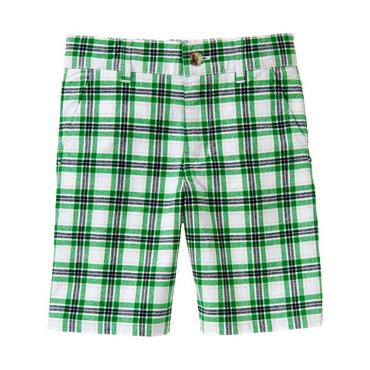 Boys Kelly Green Plaid Plaid Short at JanieandJack