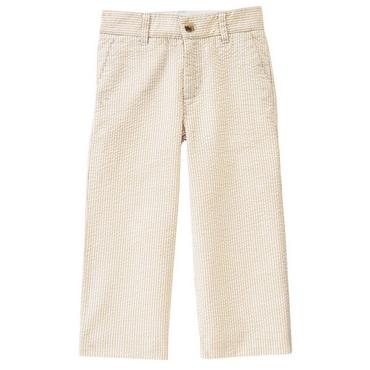 Boys Classic Khaki Stripe Stripe Seersucker Trouser at JanieandJack