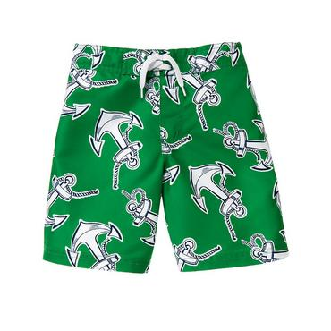 Kelly Green Anchor Swim Trunk at JanieandJack