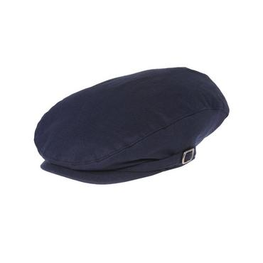 Boys Classic Navy Linen Blend Cap at JanieandJack