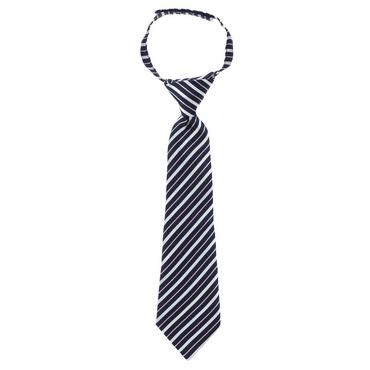 Boys Classic Navy Stripe Stripe Tie at JanieandJack