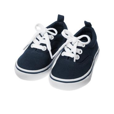 Classic Navy Canvas Sneaker at JanieandJack