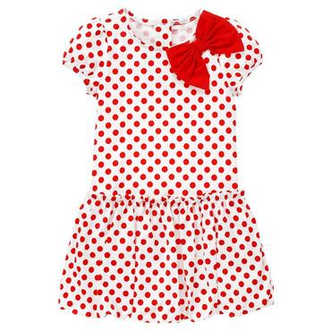 Riviera Red Dot Bow Dot Bubble Dress at JanieandJack