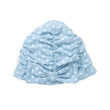 Seaside Blue Dot Bow Dot Swim Cap at JanieandJack