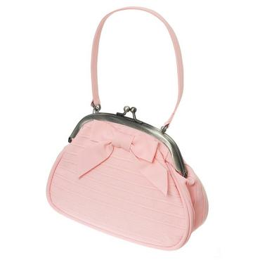 Blossom Pink Pintucked Ribbon Bow Purse at JanieandJack