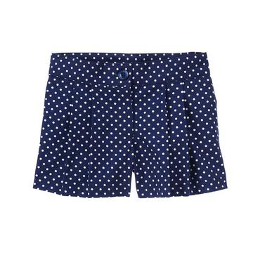 Capri Navy Dot Pleated Dot Short at JanieandJack