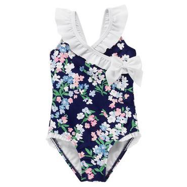 Capri Floral Ruffle Floral Swimsuit at JanieandJack