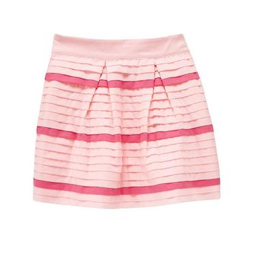 Blossom Pink Pintucked Skirt at JanieandJack