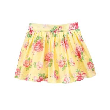 Yellow Rose Rose Floral Skirt at JanieandJack