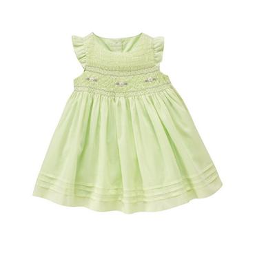 Mint Green Floral Smocked Dress at JanieandJack