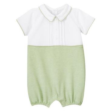 Spring Green Pique Polo Bubble at JanieandJack