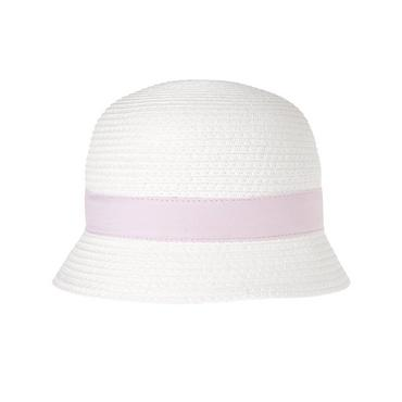 Pure White Bow Straw Hat at JanieandJack