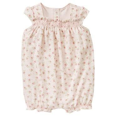 Rose Rose Floral Smocked Knit Bubble at JanieandJack