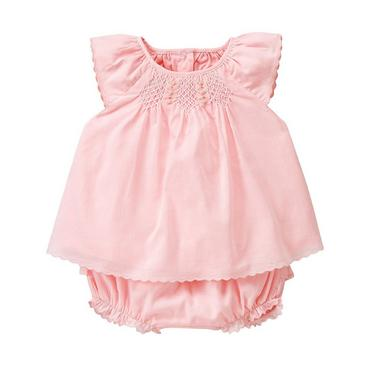 Marshmallow Pink Rosette Smocked Set at JanieandJack