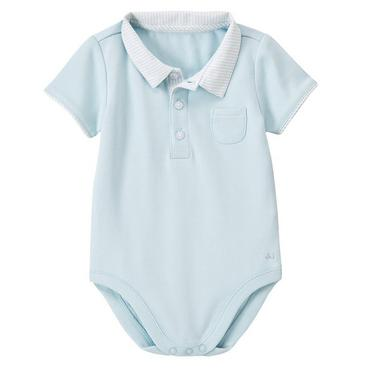 Baby Blue Stripe Seersucker Collar Bodysuit at JanieandJack