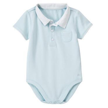 Baby Blue Stripe Seersucker Collar Bodysuit at JanieandJack