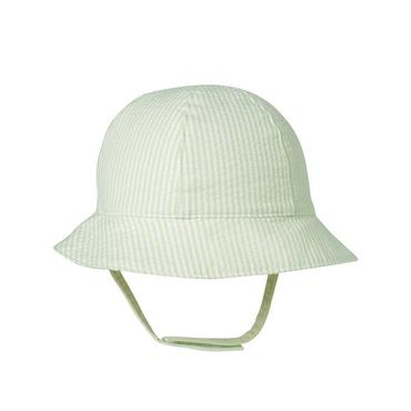 Pale Green Stripe Stripe Seersucker Hat at JanieandJack