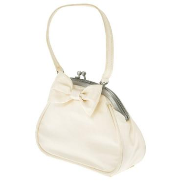 Jet Ivory Bow Silk Purse at JanieandJack