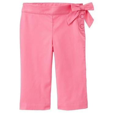 Berry Pink Strawberry Handkerchief Crop Pant at JanieandJack