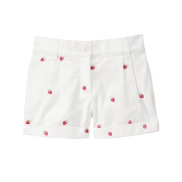 Pure White Strawberry Cuffed Short at JanieandJack