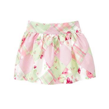 Strawberry Patchwork Floral Patchwork Skirt at JanieandJack