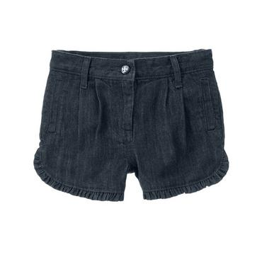 Indigo Wash Denim Ruffle Denim Short at JanieandJack