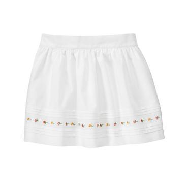Pure White Blossom Pintucked Dobby Skirt at JanieandJack