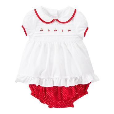 Pure White Cherry Embroidered Set at JanieandJack