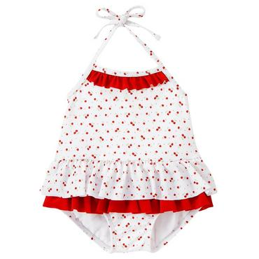 Cherry Blossom Ruffle Cherry Swimsuit at JanieandJack