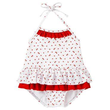 Cherry Blossom Ruffle Cherry Swimsuit at JanieandJack