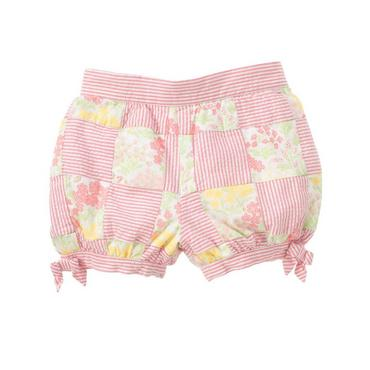Petal Pink Patchwork Seersucker Patchwork Short at JanieandJack