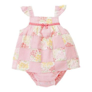 Petal Pink Patchwork Floral Patchwork Bubble Dress at JanieandJack