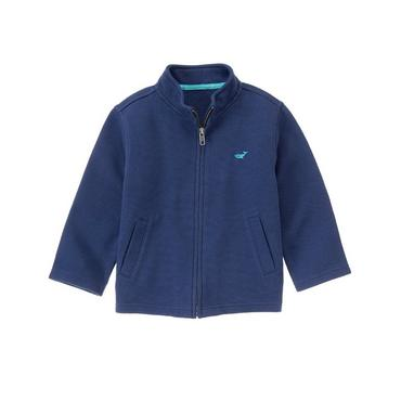 Twilight Blue Whale Zip Cardigan at JanieandJack