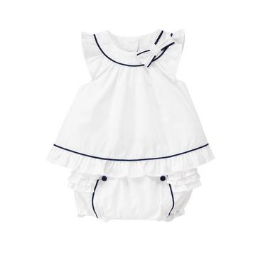 Pure White Bow Ruffle Ensemble at JanieandJack