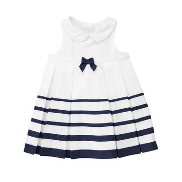 Pure White Ribbon Stripe Dress at JanieandJack
