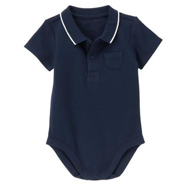 Classic Navy Pique Polo Bodysuit at JanieandJack
