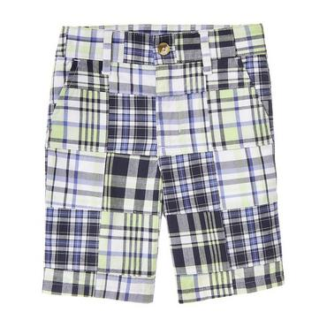 Boys Mint Green Patchwork Patchwork Short at JanieandJack