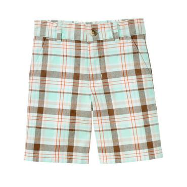 Boys Oasis Blue Plaid Plaid Short at JanieandJack