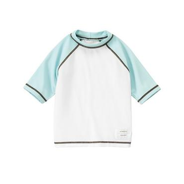Pure White Raglan Rash Guard at JanieandJack
