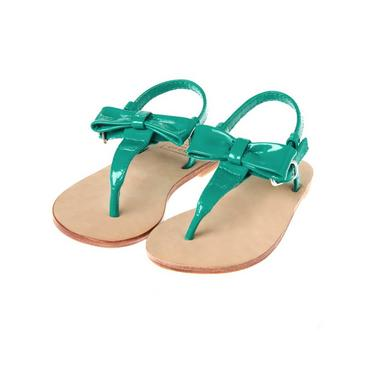 Island Green Bow Patent Leather Sandal at JanieandJack