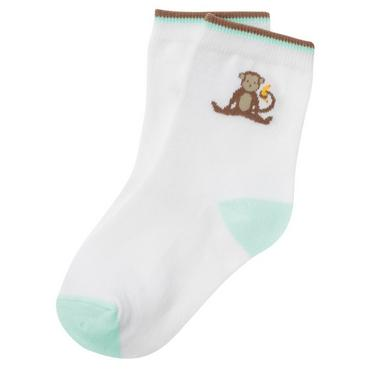 Boys Pure White Monkey Sock at JanieandJack