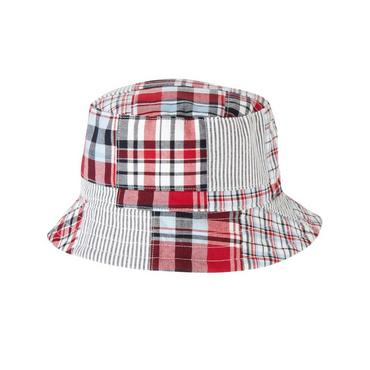 Boys Flag Red Patchwork Patchwork Bucket Hat at JanieandJack