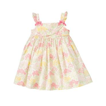 Rosy Pink Floral Bow Floral Voile Dress at JanieandJack
