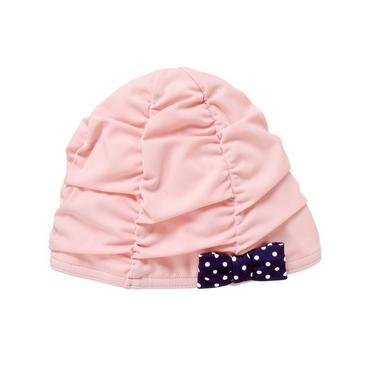 Shell Pink Bow Ruched Swim Cap at JanieandJack