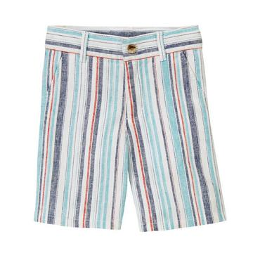 Summer Blue Stripe Stripe Linen Blend Short at JanieandJack