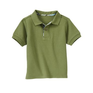 Grasshopper Green Pique Polo Shirt at JanieandJack
