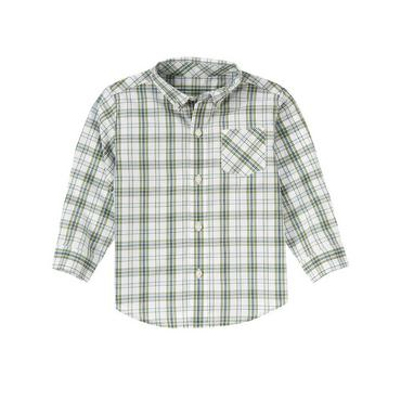 Grasshopper Green Plaid Plaid Shirt at JanieandJack